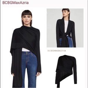BCBG Dark Grey Kattianne Wrap Cardigan